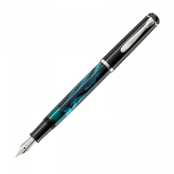 Pelikan Classic M205 Fountain Pen Petrol-Marbled Special Edition
