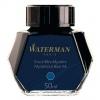 Waterman Mysterious Blue/Black ink swatch