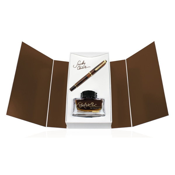 Pelikan Classic M200 Fountain Pen Smoky Quartz Special Edition gift set