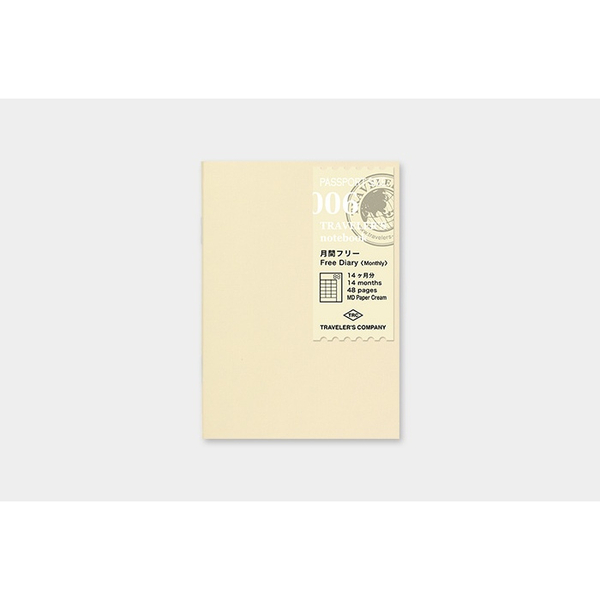 Traveler's Company Passport Free diary Monthly 006