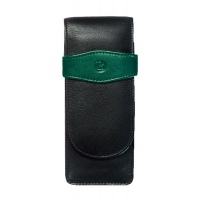Pelikan case (3-pen) black/green