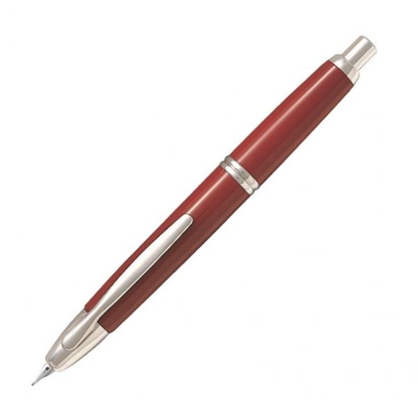 Pilot Capless Fountain Pen Rhodium Trim Red