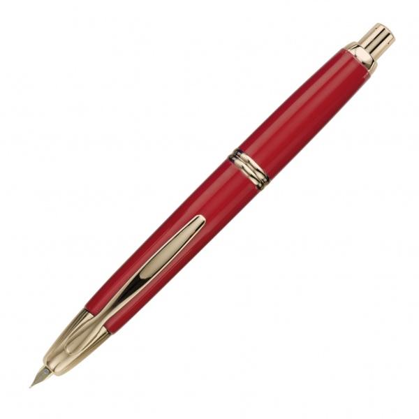Pilot Capless Fountain Pen Gold Trim Red