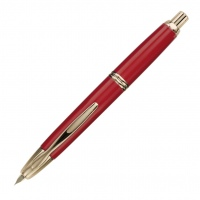 Pilot Capless Fountain Pen Gold Trim Red