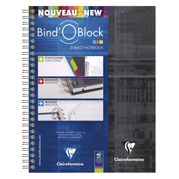 Clairefontaine Bind-o-Block A5 lined 8275