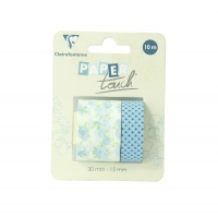 Clairefontaine Washi Tape Blue Flowers