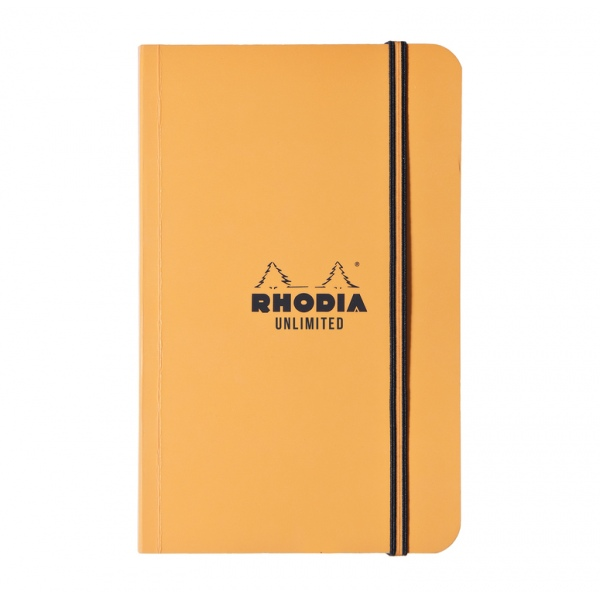 Rhodia Unlimited 9x14 lined orange or black