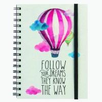 Legami Notebook wirebound Follow Your Dreams (Balloon) A5