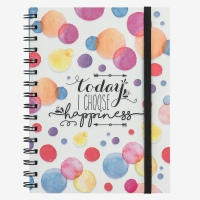 Legami Notebook wirebound Today I Choose Happiness A5