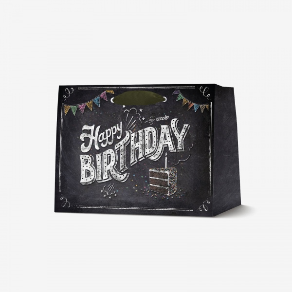 Legami Gift bag medium Happy Birthday chalkboard