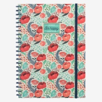 Legami Notebook A4 Wirebound Flower