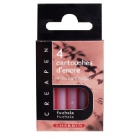 Herbin Creapen cartridge fuchsia