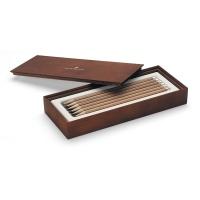 Graf von Faber Castell Pencil Gift Box 12 Pencils brown