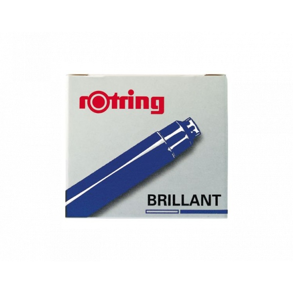 rotring Brilliant cartridges blue pk6