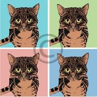 Arty Card Co Notelets - Marmaduke/Pansy