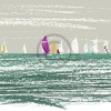 Arty Card Co Notelets - Cowes Sails/Stormy Seas