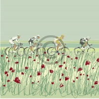 Arty Card Co Greetings Card - Peleton 7