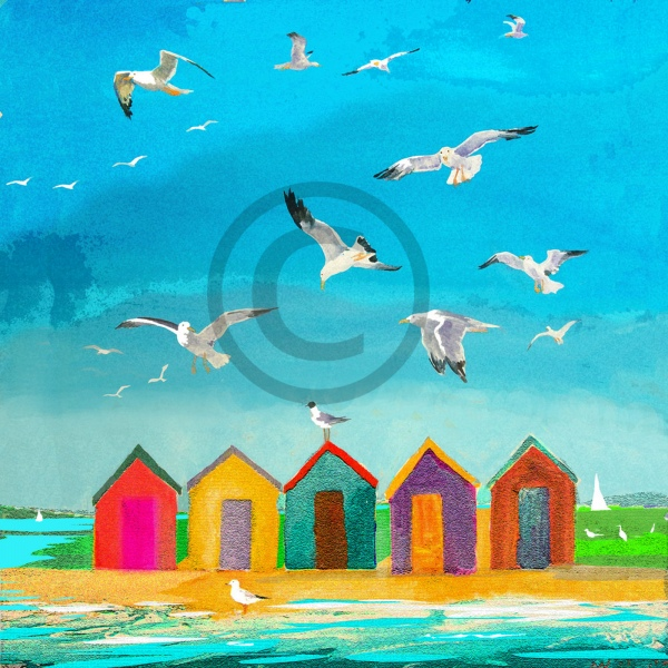 Arty Card Co Greetings Card - Beach Huts