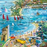 Arty Card Co Greetings Card - Beach cafe