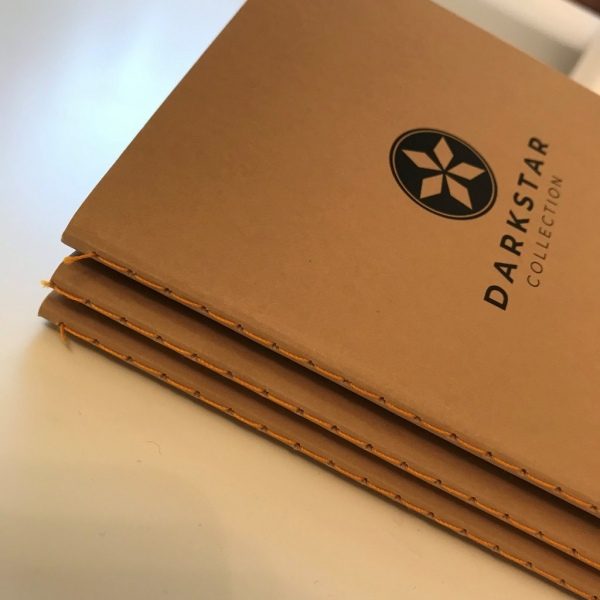 Darkstar Collection - Nomad brown dot grid notebooks