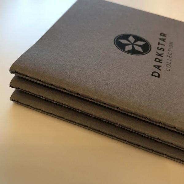 Darkstar Collection - Grey dot grid notebooks