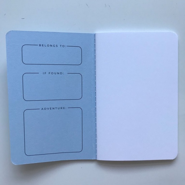 Darkstar Collection - Blue plain notebooks