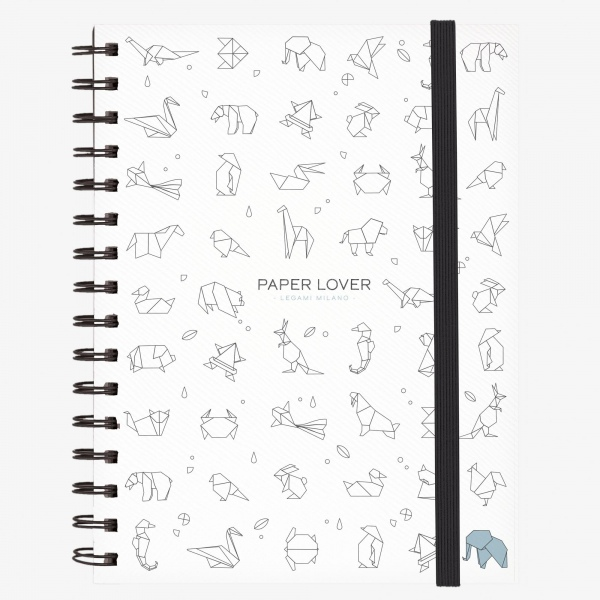 Legami Notebook A5 Wirebound Paper Lover (origami)