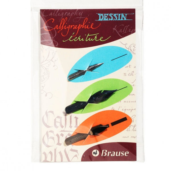 Brause set of 3 dip pen nibs