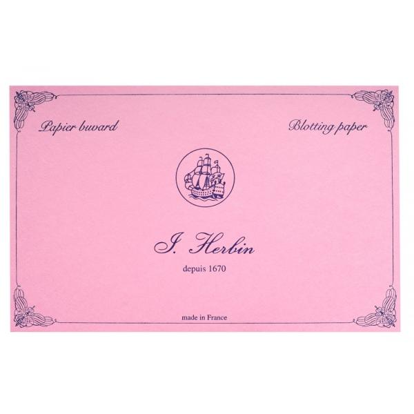 Herbin blotting paper pink