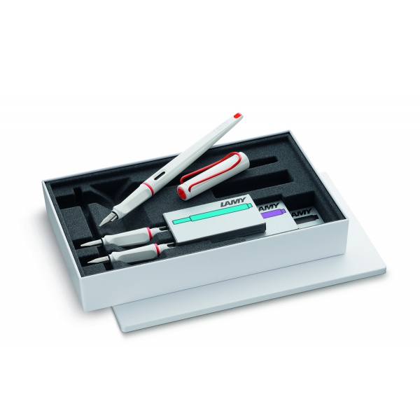 Lamy Joy 15 White/Red set special edition