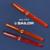 Sailor Professional Gear Slim Fire with Red and Framboise