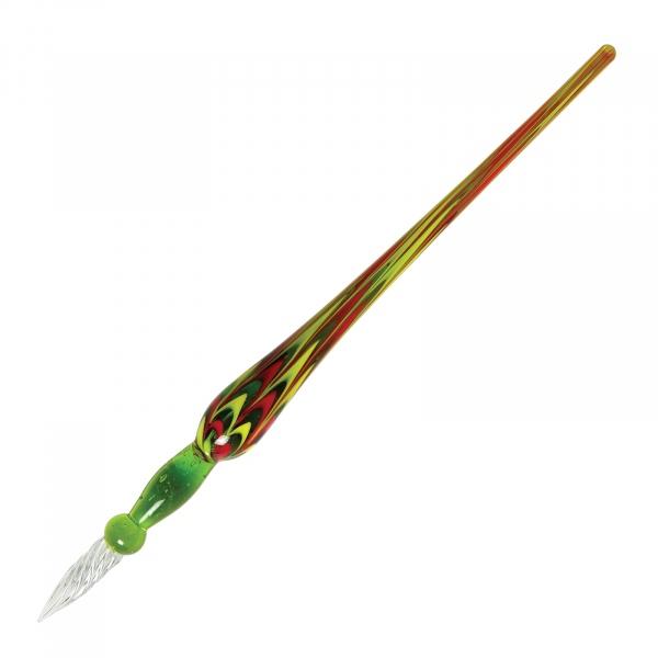 Herbin glass pen spiral green
