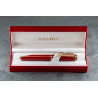 Sheaffer Targa 1021 Fountain Pen and Pencil set - Laque Imperial Red