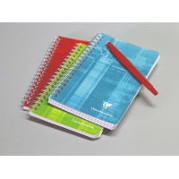 Clairefontaine Wirebound Notebook 11x17cm squared