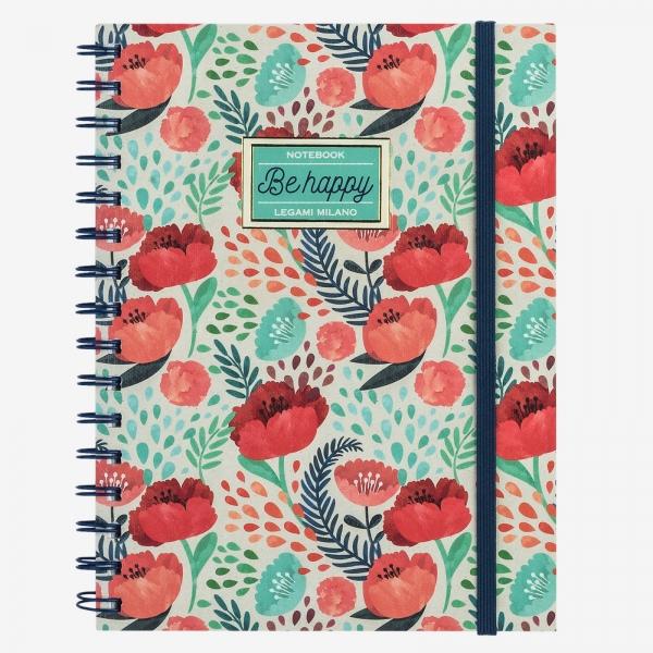 Legami Notebook A5 Wirebound Flower (faded)