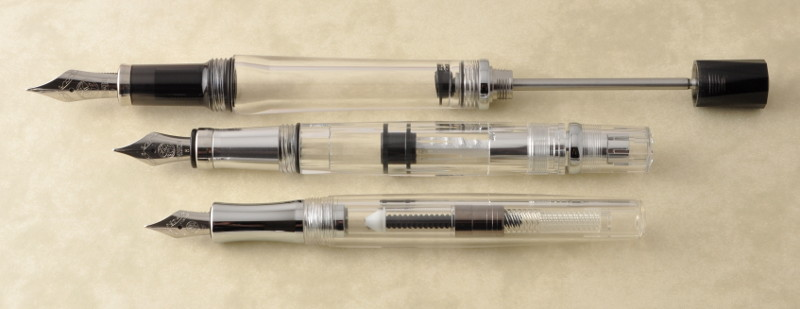 Fountain pen filling mechanisms