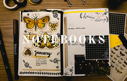 notebooks and paper